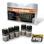 CIVIL ENGINES WEATHERING SET<br> A.MIG-7146